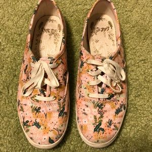 Keds Shoes - Keds/Rifle Paper Co Pink Floral Sneakers, Sz 7.5